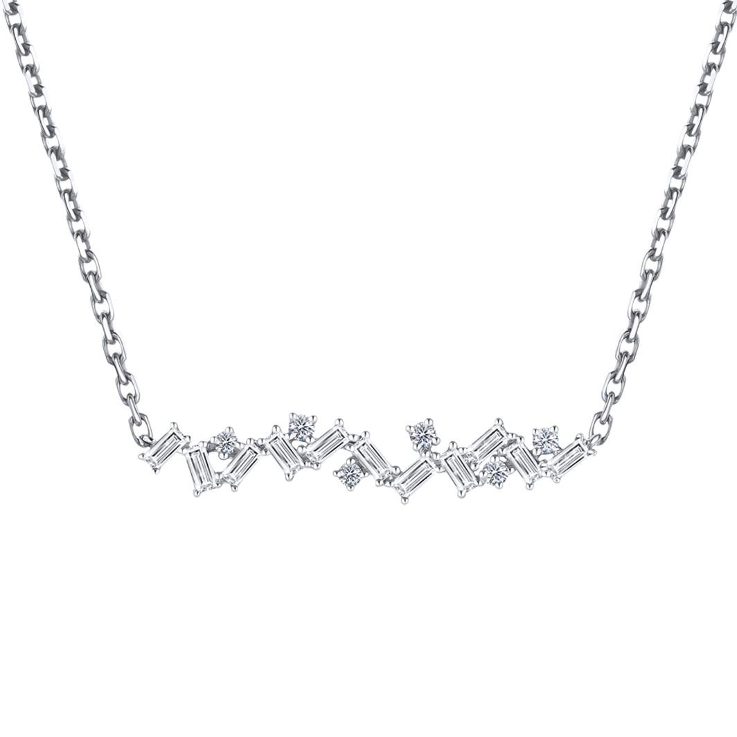 Bouquet of Diamond Asymmetrical Necklace
